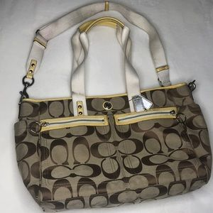 Coach canvas diaper bag